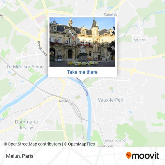 Melun map