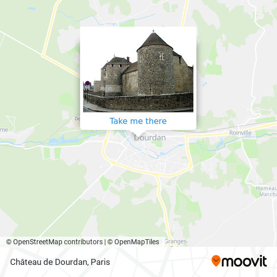 Mapa Château de Dourdan