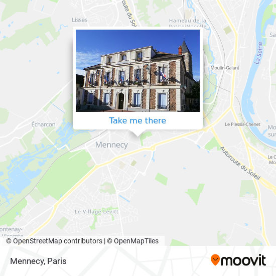 Mennecy map