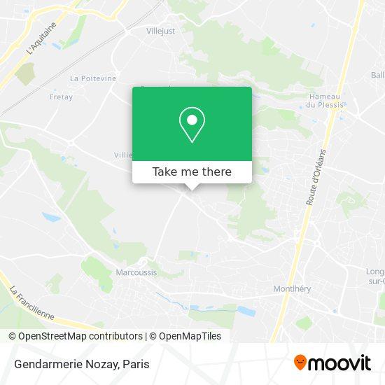 Gendarmerie Nozay map