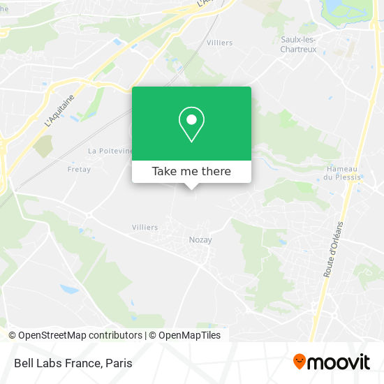 Bell Labs France map