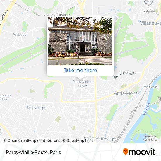 Paray-Vieille-Poste map