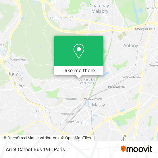 Mappa Arret Carnot Bus 196