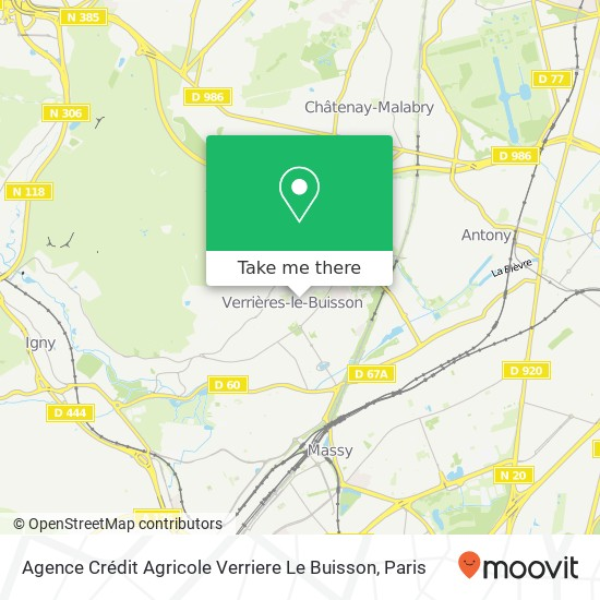 Mappa Agence Crédit Agricole Verriere Le Buisson