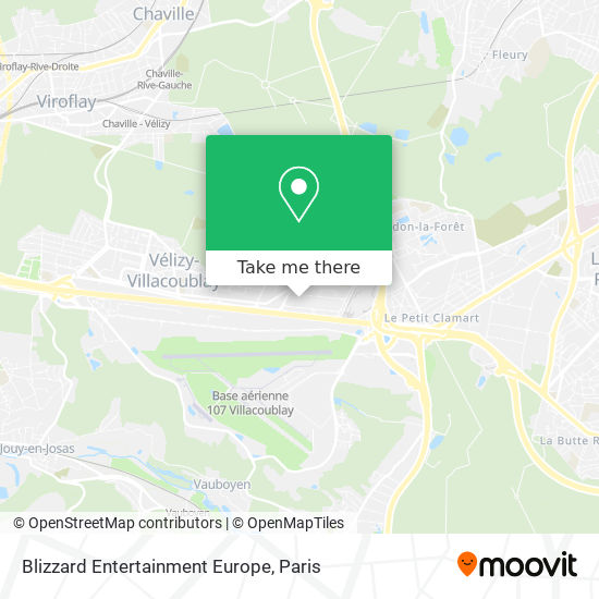 Blizzard Entertainment Europe map