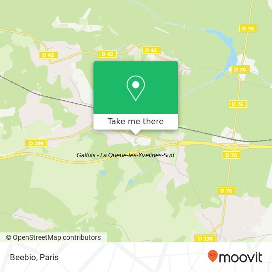 Beebio mapa