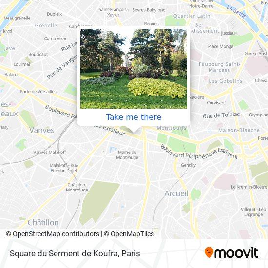 Square du Serment de Koufra map