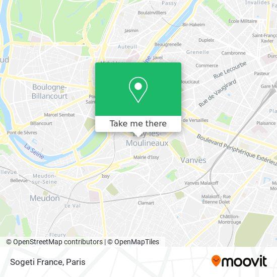 Sogeti France map