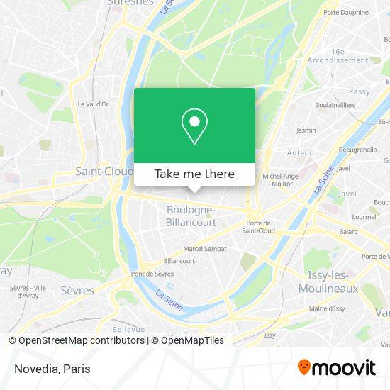 Novedia map