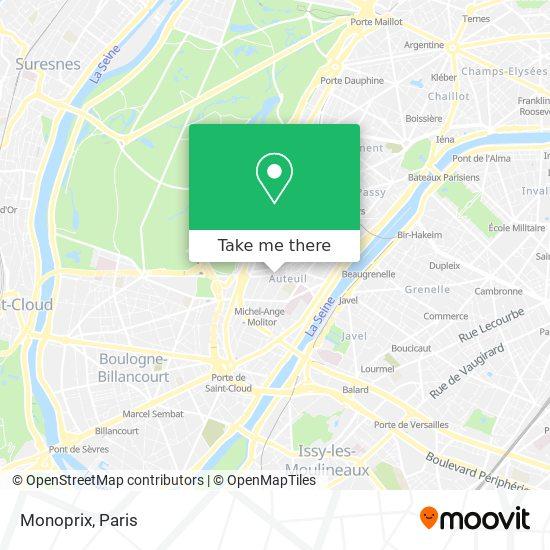 Monoprix map