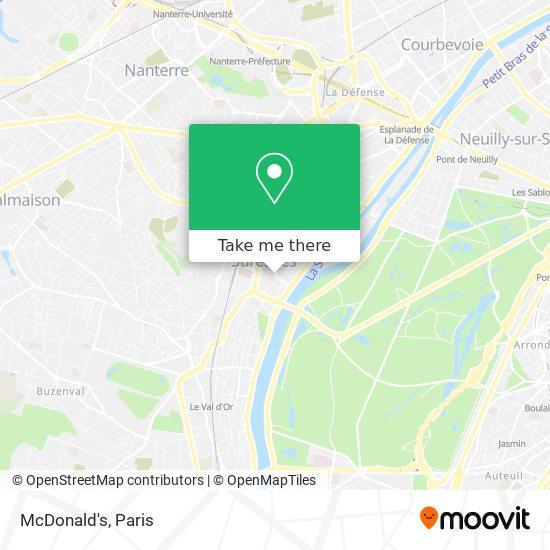 McDonald's map