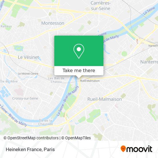 Heineken France map