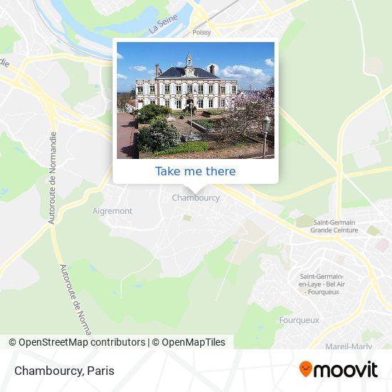 Chambourcy map