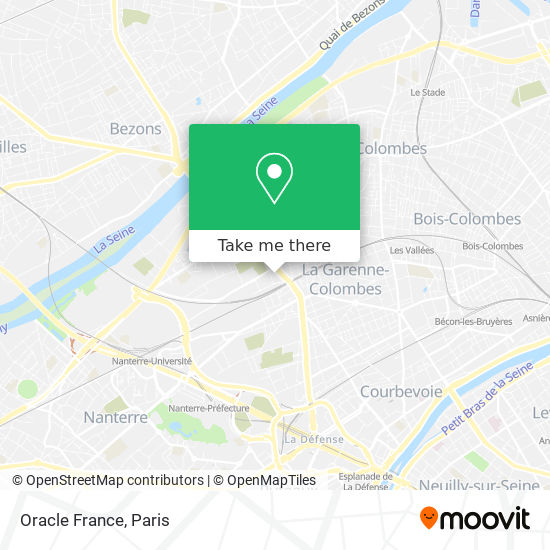 Oracle France map