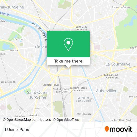 L'Usine map