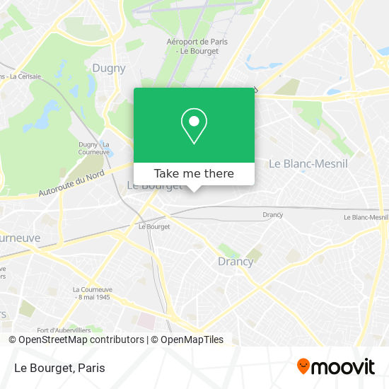 Le Bourget map