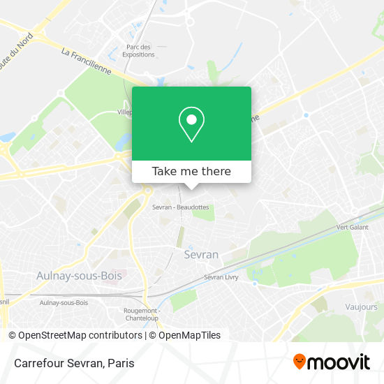 Carrefour Sevran mapa