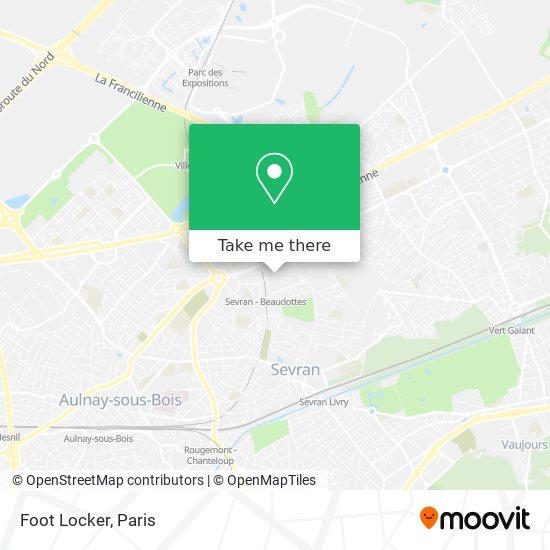 Foot Locker mapa