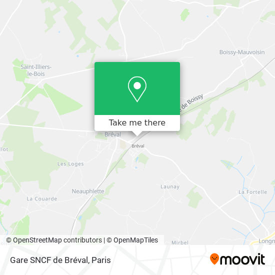Mapa Gare SNCF de Bréval