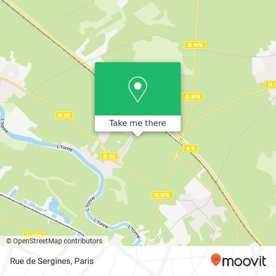 Rue de Sergines mapa