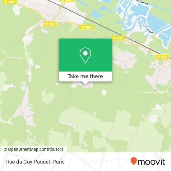 Mapa Rue du Gay Paquet