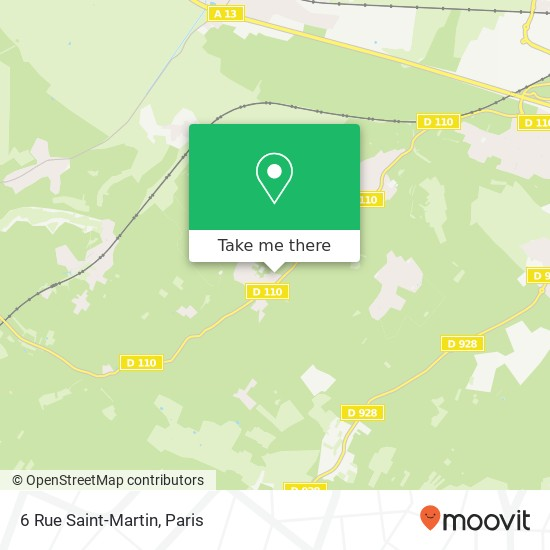Mappa 6 Rue Saint-Martin