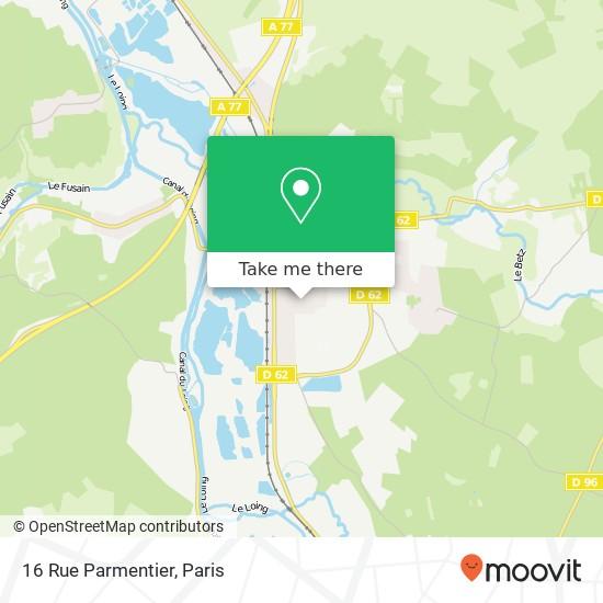 Mappa 16 Rue Parmentier