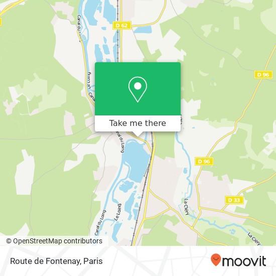 Route de Fontenay mapa