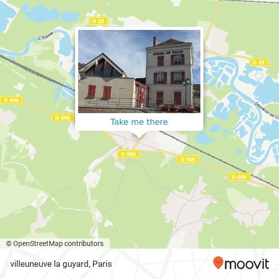 Mappa villeuneuve la guyard