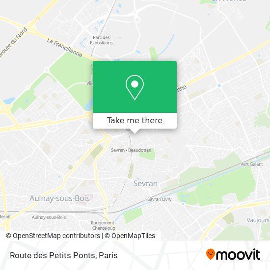 Route des Petits Ponts mapa