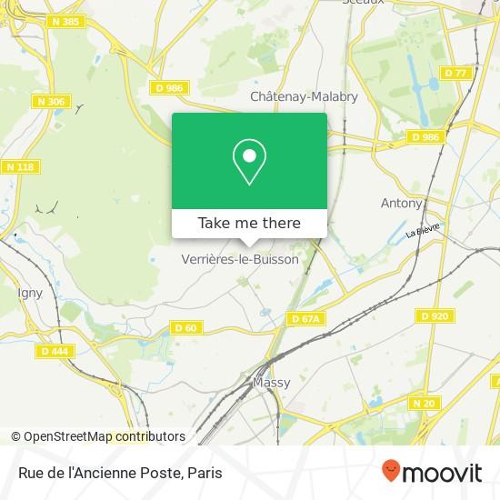 Rue de l'Ancienne Poste mapa