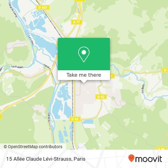 Mapa 15 Allée Claude Lévi-Strauss