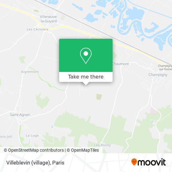 Mapa Villeblevin (village)