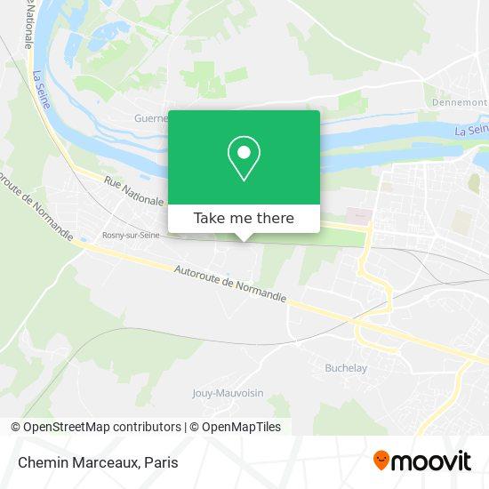Chemin Marceaux mapa