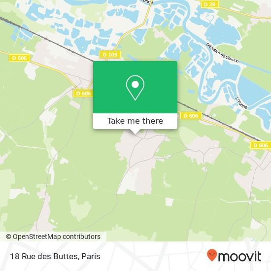 Mapa 18 Rue des Buttes