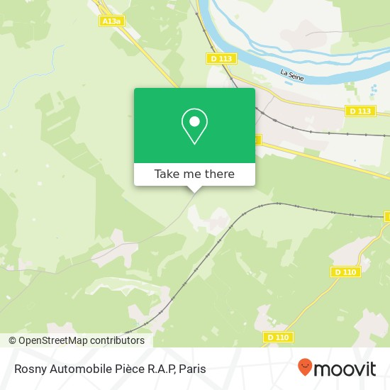 Mappa Rosny Automobile Pièce R.A.P