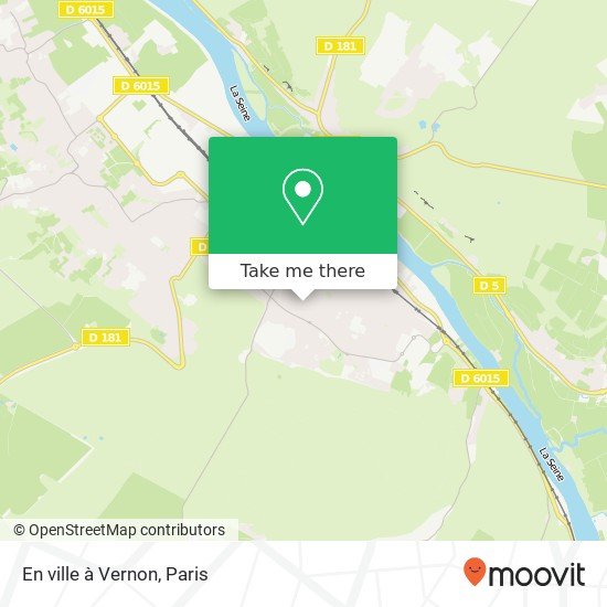 Mapa En ville à Vernon