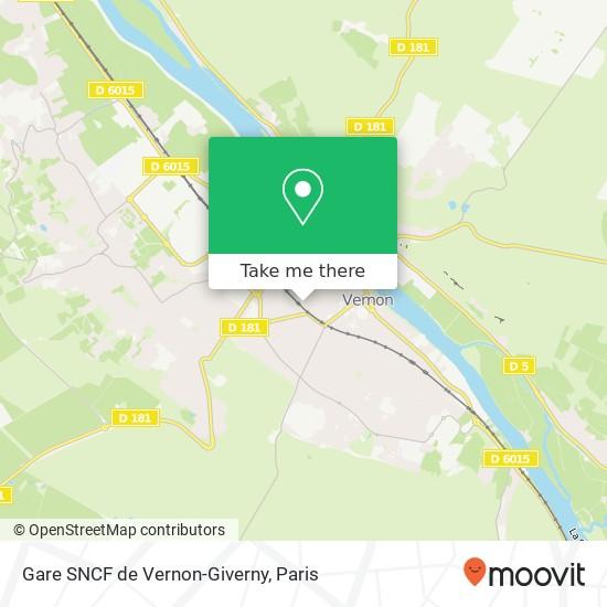 Gare SNCF de Vernon-Giverny map