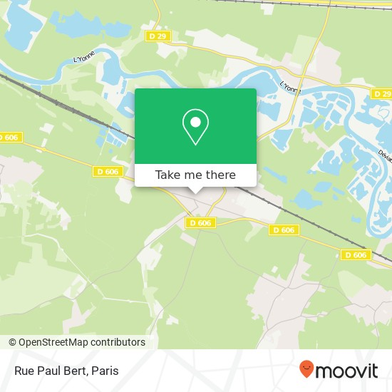 Mapa Rue Paul Bert