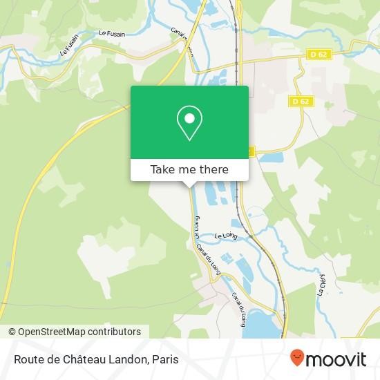 Mappa Route de Château Landon