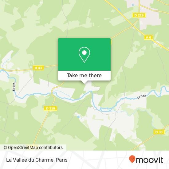 Mapa La Vallée du Charme