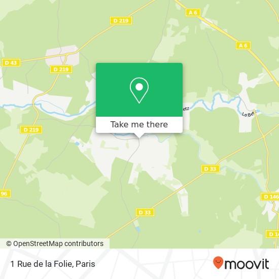 Mapa 1 Rue de la Folie