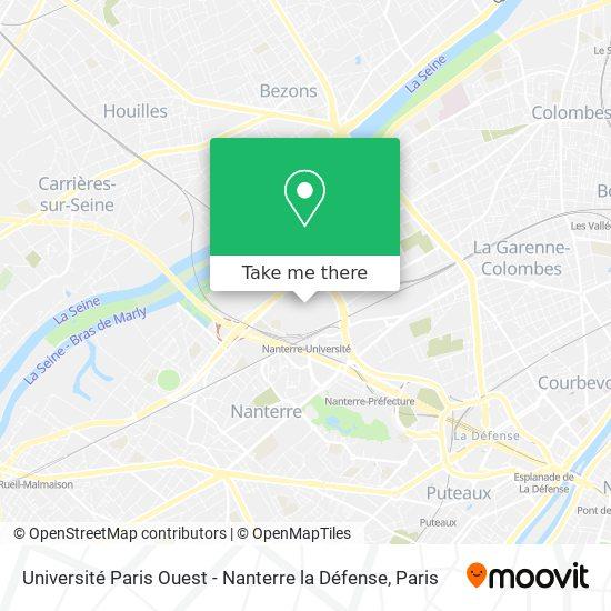Mapa Université Paris Ouest - Nanterre la Défense
