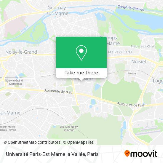 Université Paris-Est Marne la Vallée map