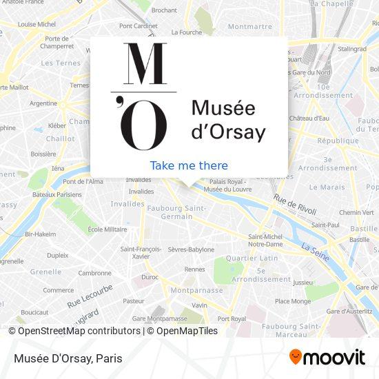 Parigi Cartina Metro.Come Arrivare A Musee D Orsay A Paris Con Bus Metro Rer Treno O Tram Moovit