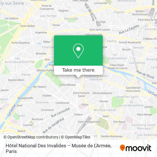Mappa Hôtel National Des Invalides – Musée de L'Armée