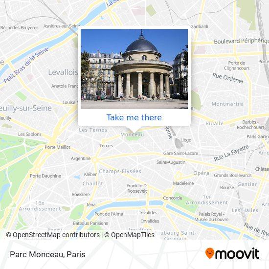 Parc Monceau map