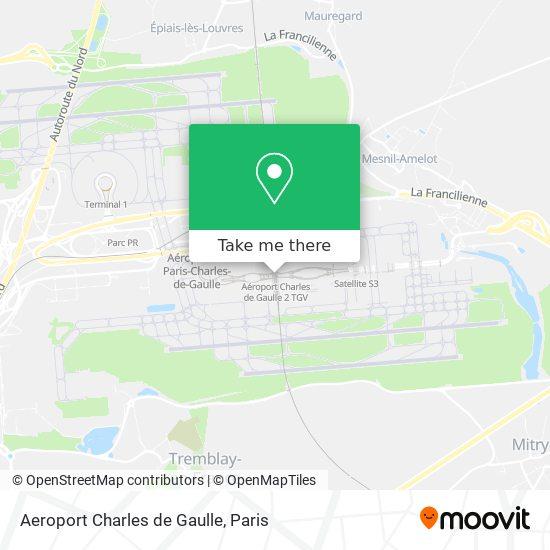 Aeroport Charles de Gaulle map