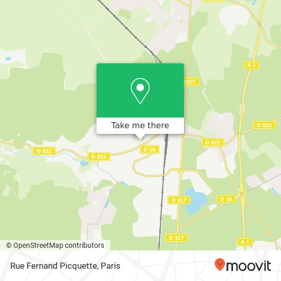 Rue Fernand Picquette map
