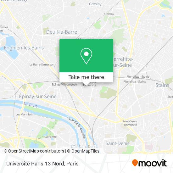 Université Paris 13 Nord map